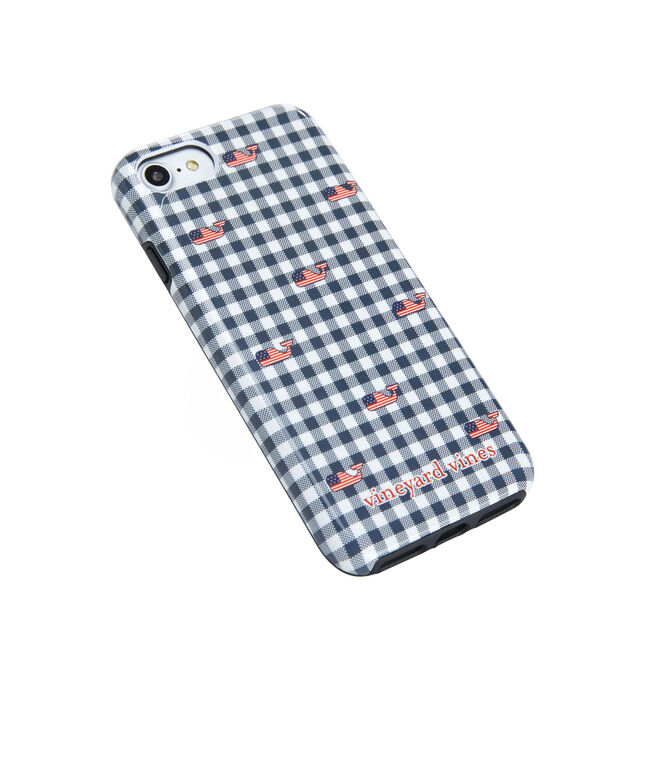 Gingham with Flag Whale iPhone 7 / 8 Case