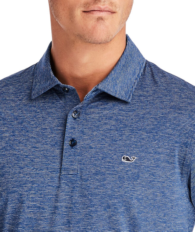 Destin Stripe Long-Sleeve Polo