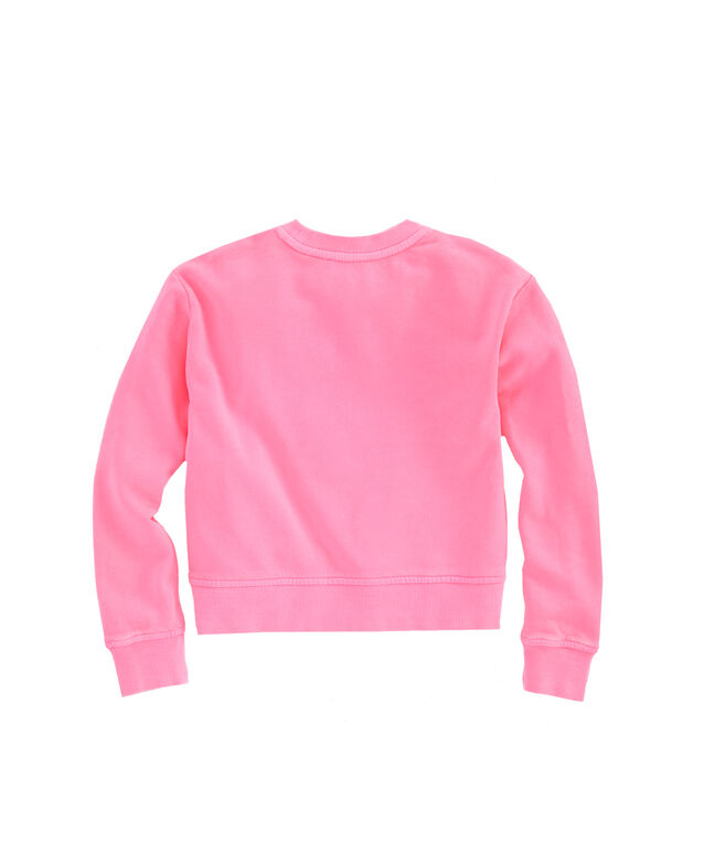 Girls Lightweight Cotton Terry High/Low Sweatshirt