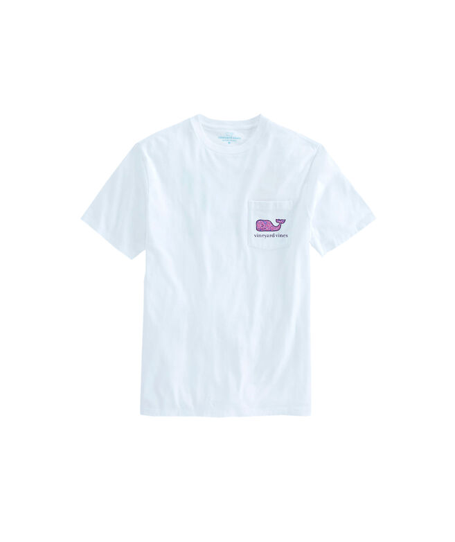 OUTLET Women's Painted Shell Whale Fill Short-Sleeve Pocket Tee