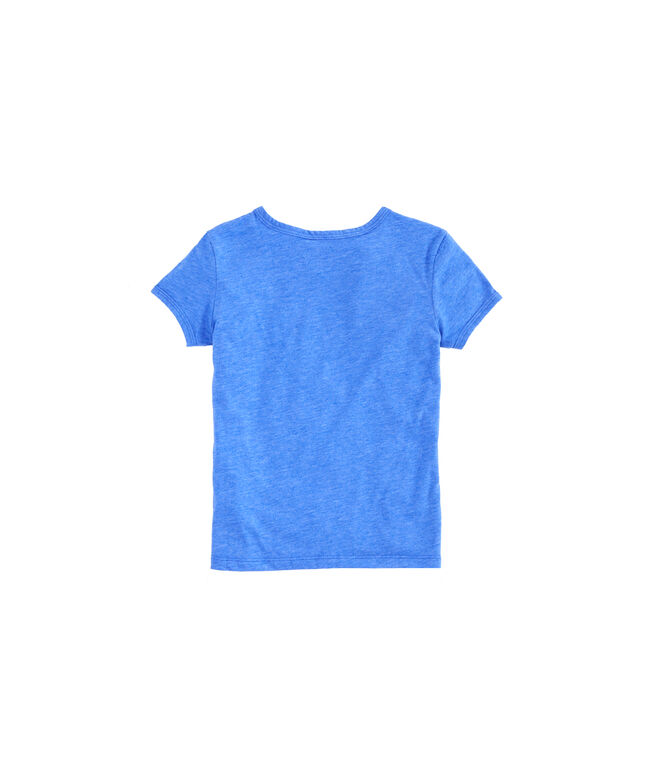 Girls Stacked Whale Island Ringer Tee