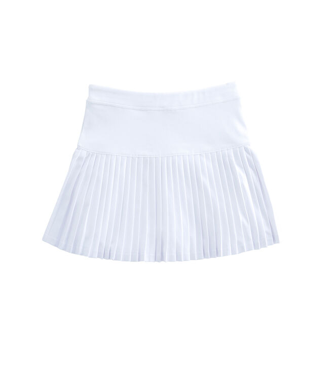 Girls Solid Knit Sport Skort
