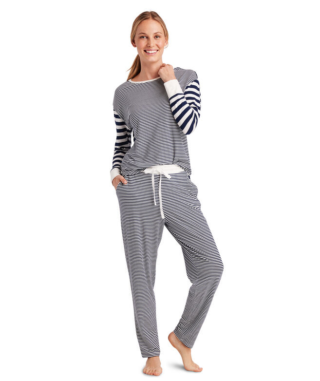 Mixed Stripe Pajama Set