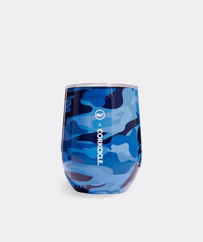 Blue Camo Corkcicle Stemless