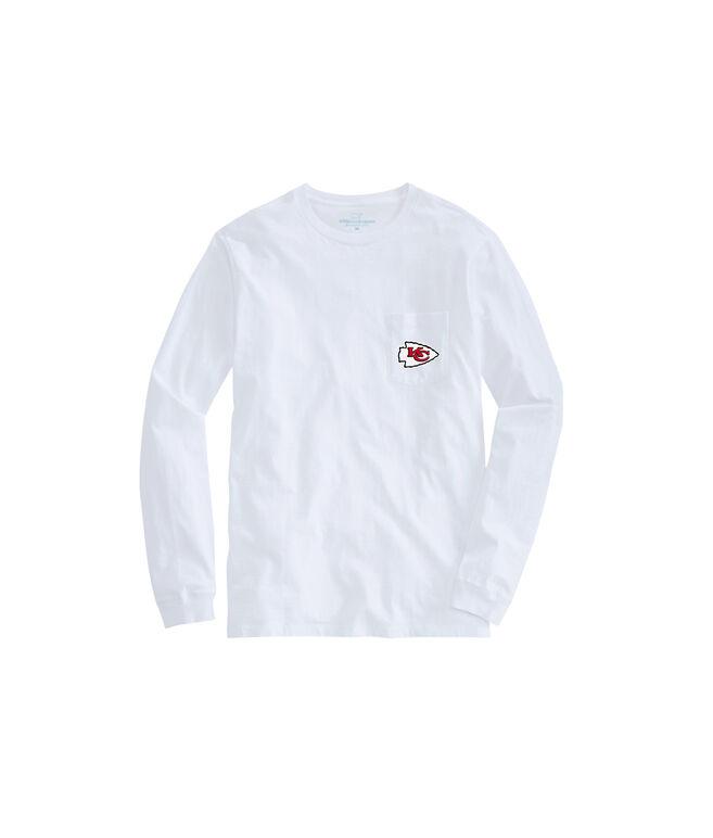 Adult Chiefs Long-Sleeve Block Stripe T-Shirt