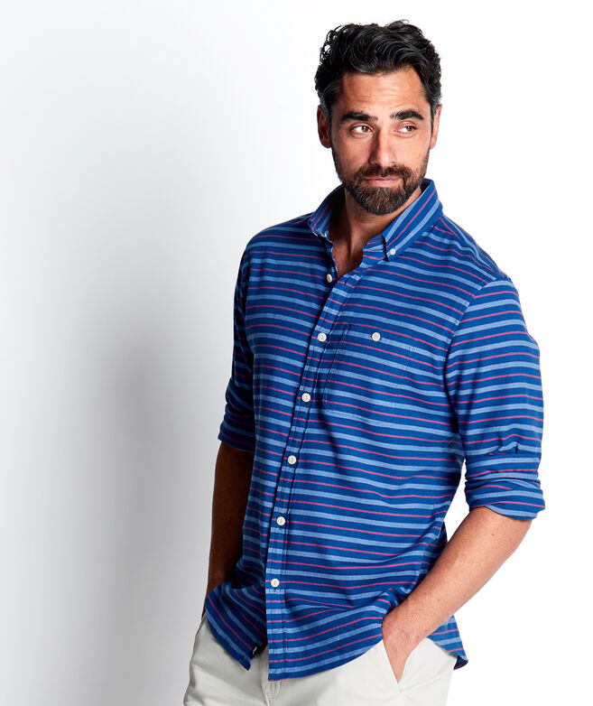 Slim Fit Andros Stripe Longshore Shirt