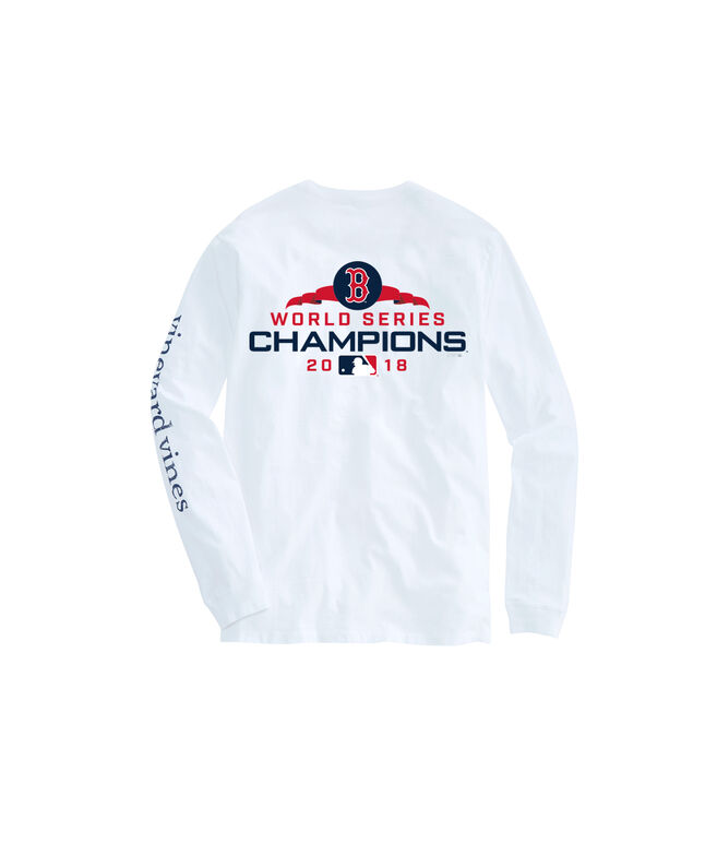 Adult Long-Sleeve Boston Red Sox World Series Champions T-Shirt