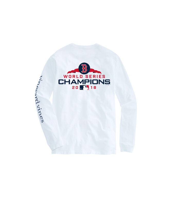 finest selection 550fc 10ab6 Adult Long-Sleeve Boston Red Sox World Series Champions T-Shirt