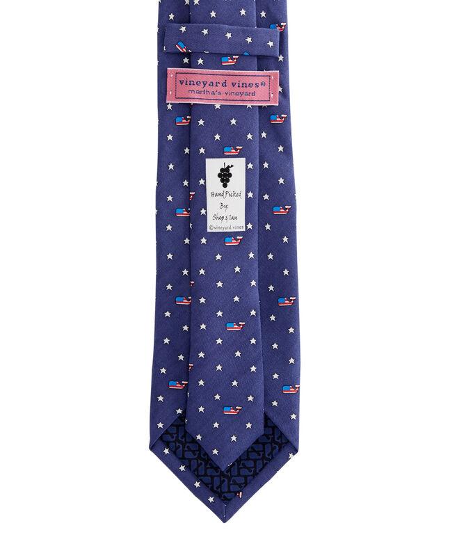 Flag Whale & Stars Tie