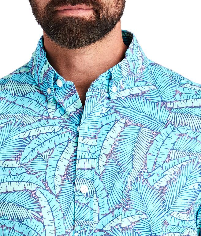 Short-Sleeve Island Palms Slim Murray Shirt