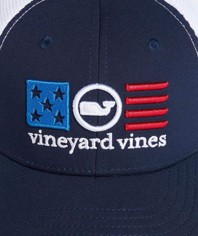 Boys' USA Whale Dot Trucker Hat