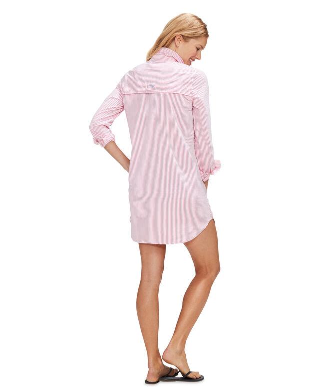 Vineyard Seersucker Harbor Shirt Cover-Up