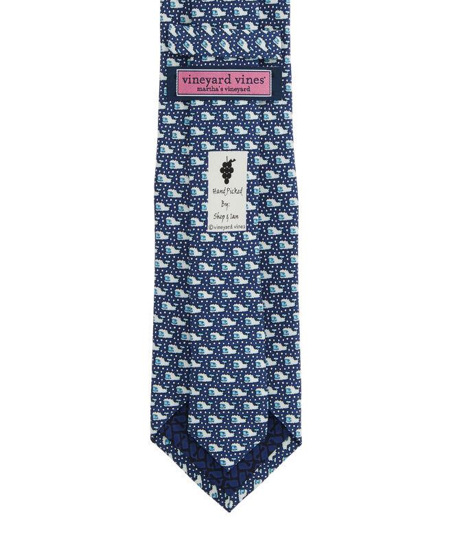 Boys' Yeti Whale Printed Tie
