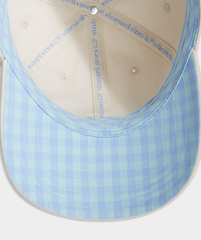 Beach Street Gingham Baseball Hat
