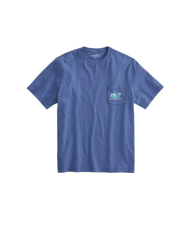 Turtles & Starfish Whale Fill Pocket T-Shirt