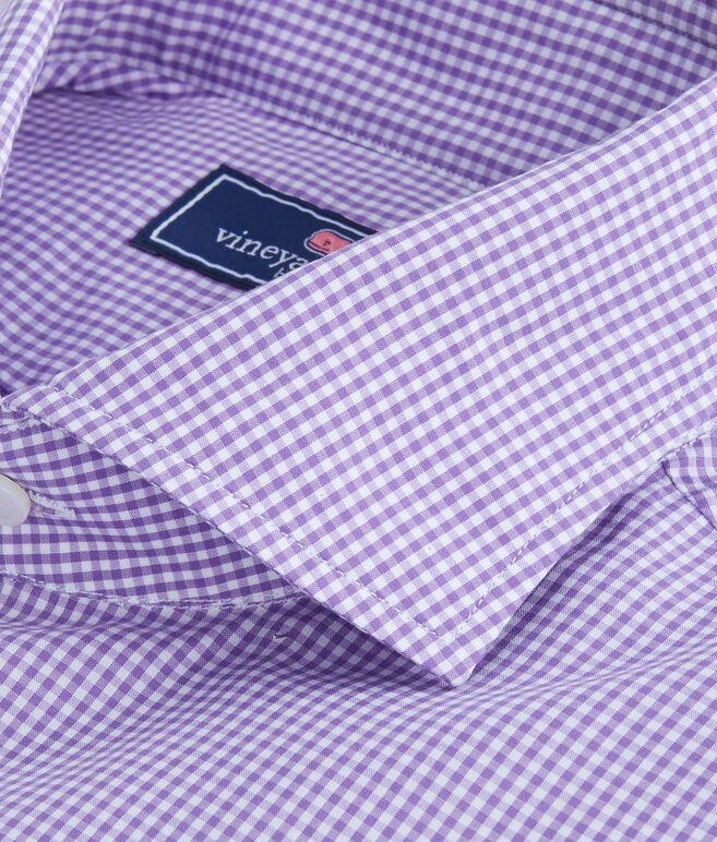 Purple Gingham Spread Collar Greenwich Shirt