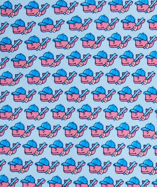 Boys Baseball Character Whale Tie