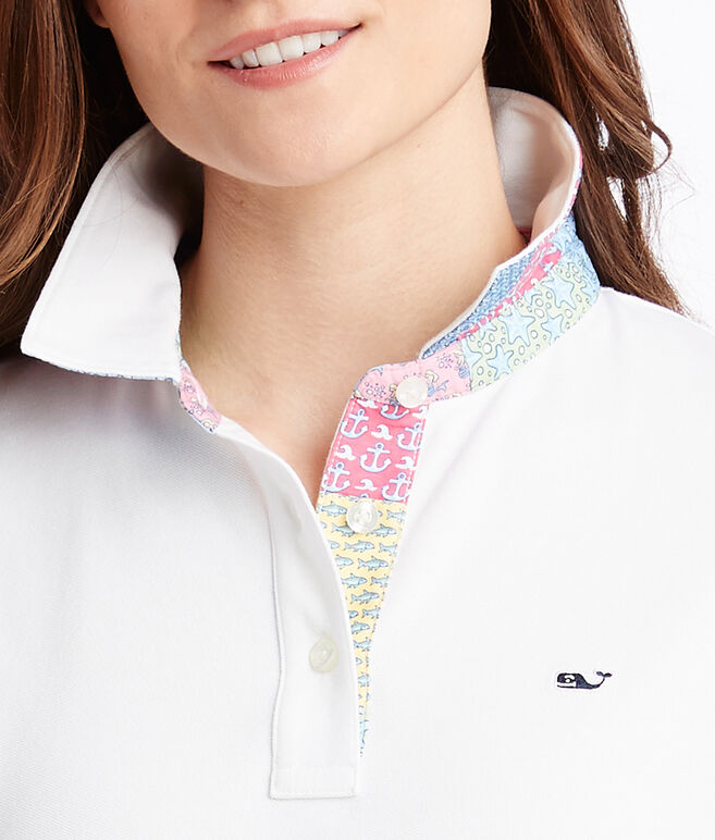 Heritage Original Patchwork Under Collar Pique Polo