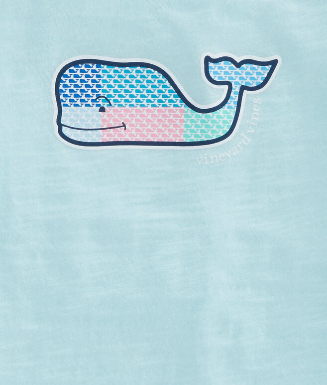 Girls Patchwork Whales Swing Tee