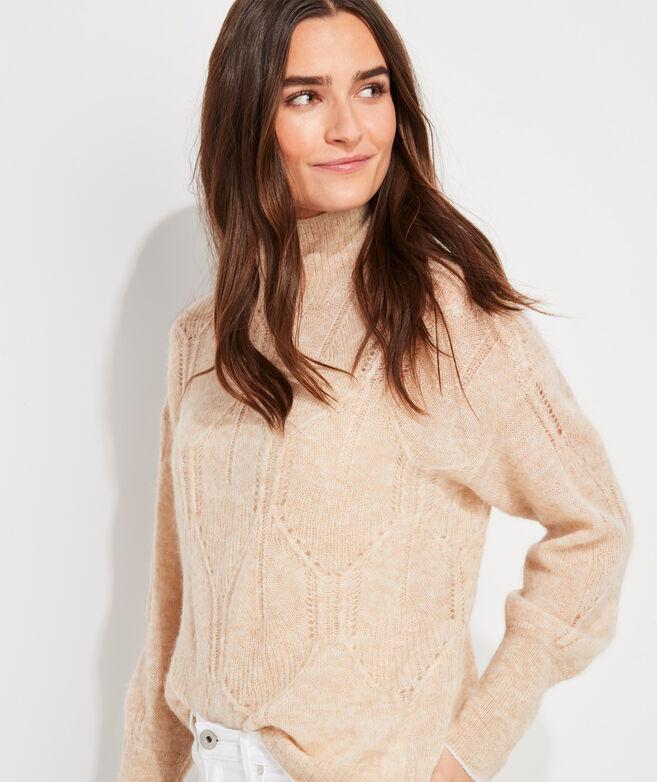Airy Fisherman Mockneck Sweater
