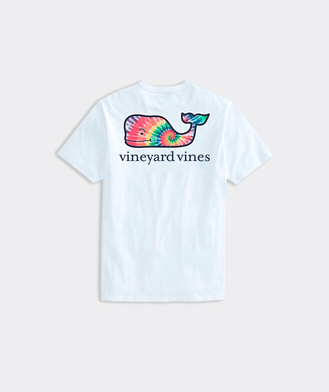 Rainbow Tie Dye Whale Fill Short-Sleeve Pocket Tee