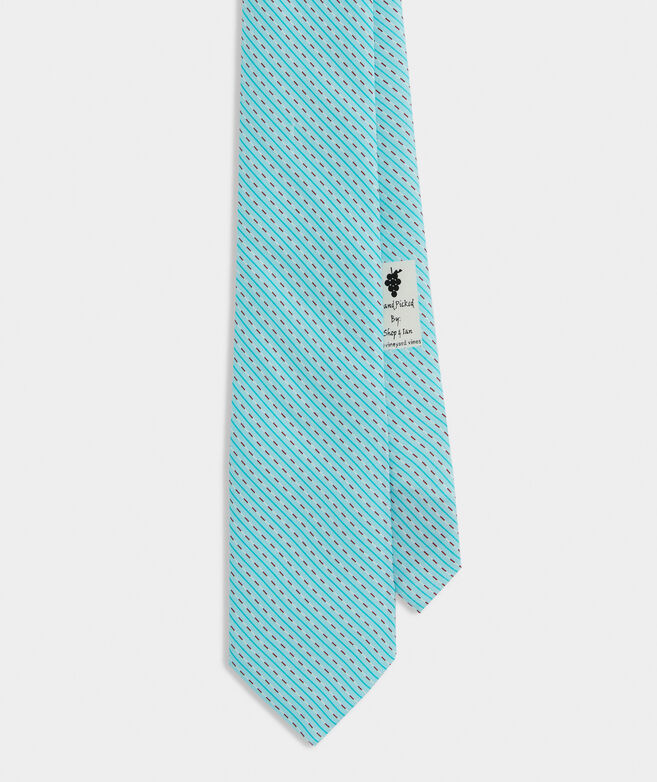 Swimming Lanes Printed Tie
