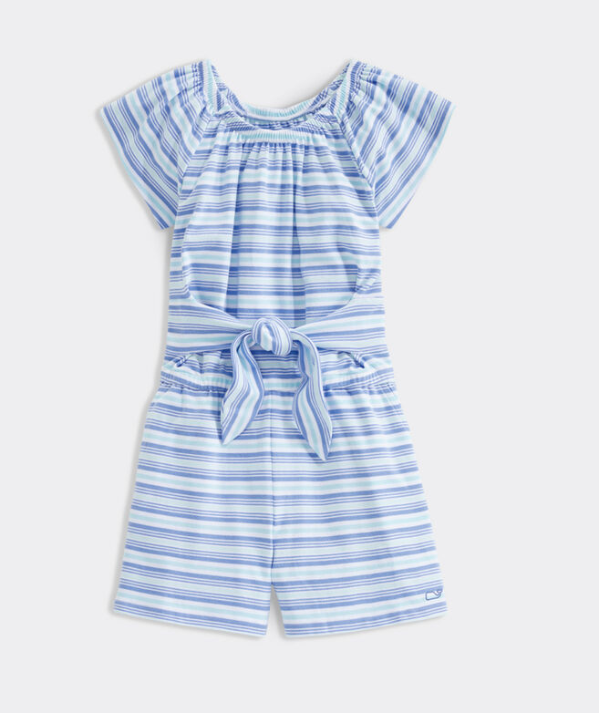 Girls' Multi Stripe Romper