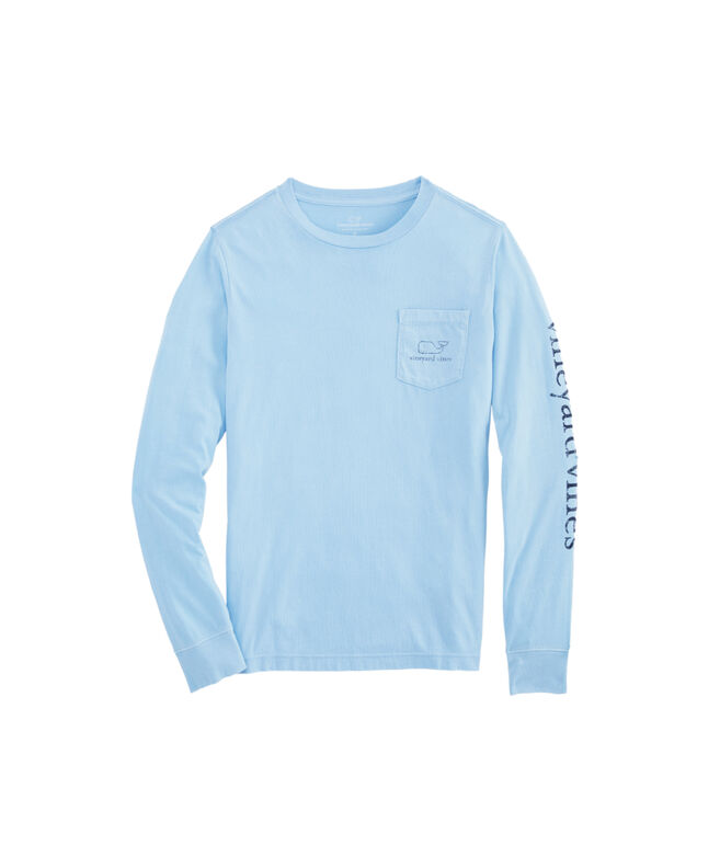 Boys Vintage Whale Long-Sleeve Pocket T-Shirt