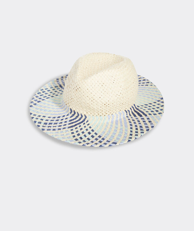 Multi Color Straw Fedora