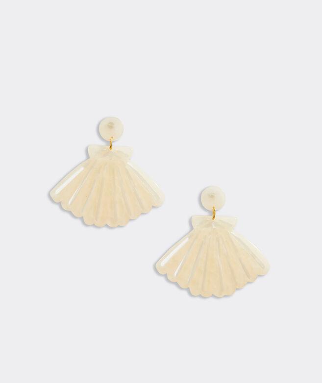Scallop Shell Resin Earrings