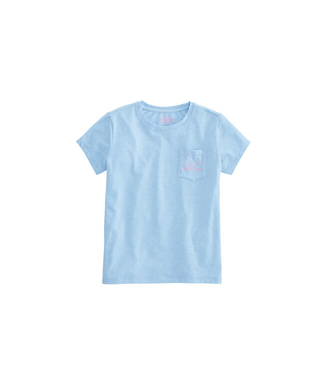 Girls Vintage Whale Edgartown Tee
