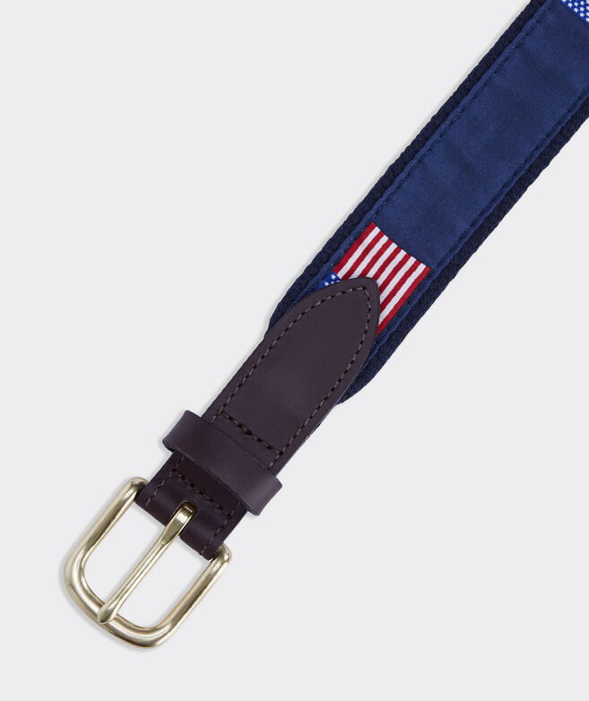 Boys' American Flags Canvas Club Belt