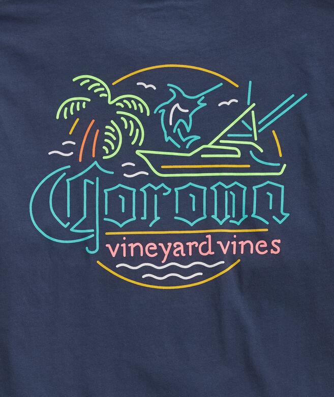 Corona® x vineyard vines Neon Sign Short-Sleeve Pocket Tee