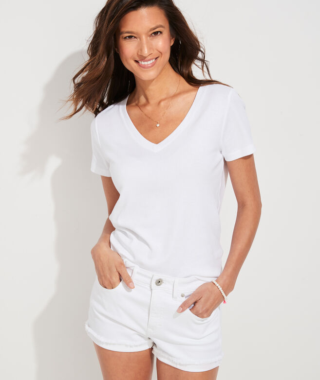 Jamie High-Rise White Jean Cutoff Shorts