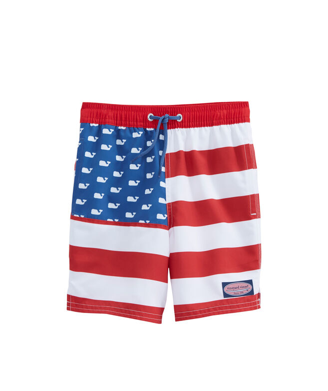 Boys USA Flag Chappy Trunks
