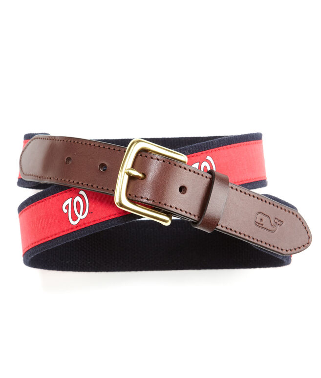 Washington Nationals Canvas Club Belt