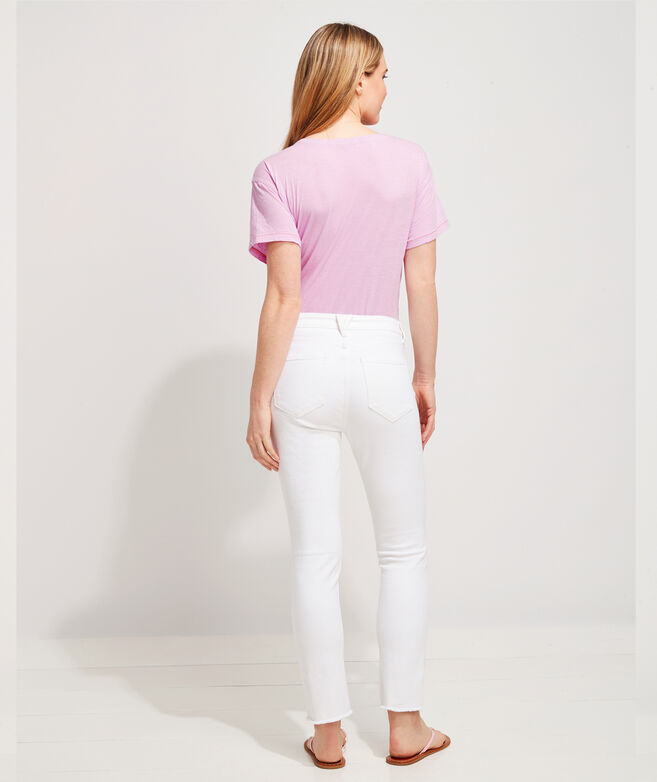 Straight Crop Jamie High-Rise White Jeans