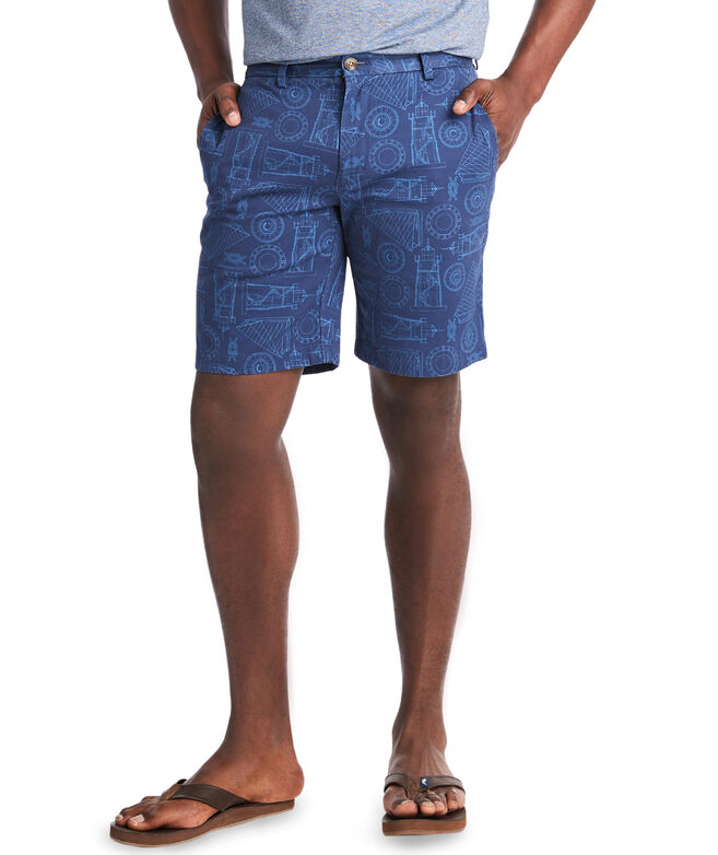 9 Inch Lighthouse Scene Breaker Shorts