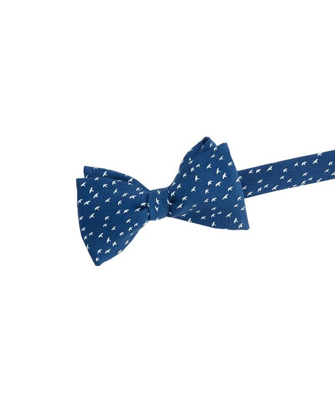 Bird Silhouette Printed Bow Tie