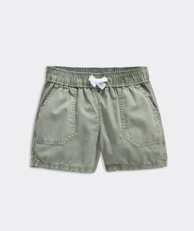 Girls' Garment-Dyed Utility Pull-On Shorts