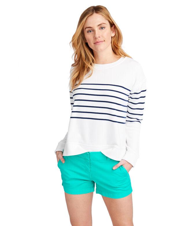 OUTLET Women's Striped Long Sleeve Sweatshirt