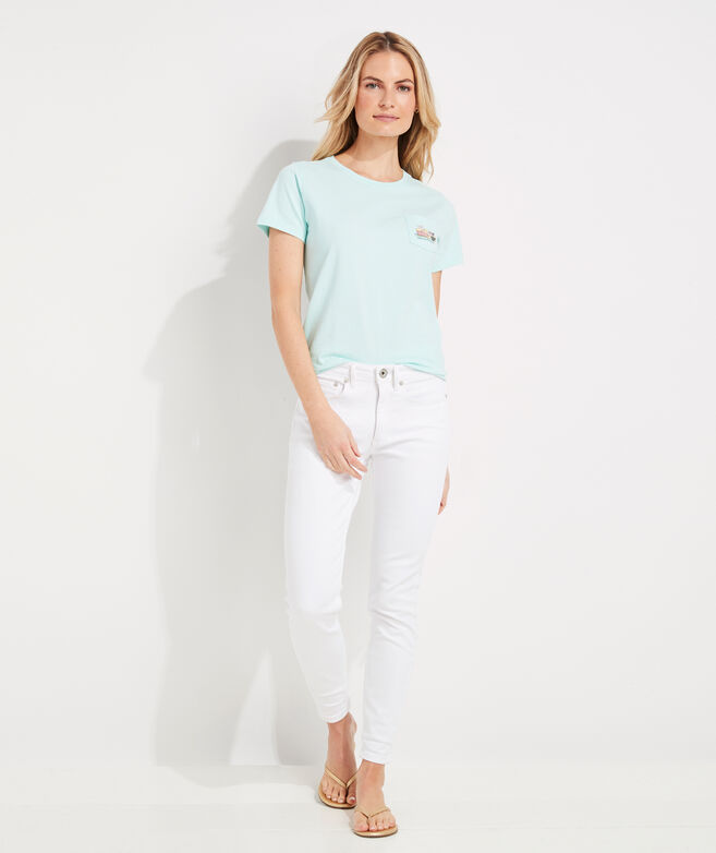 Short-Sleeve Easter Whale Pocket Tee