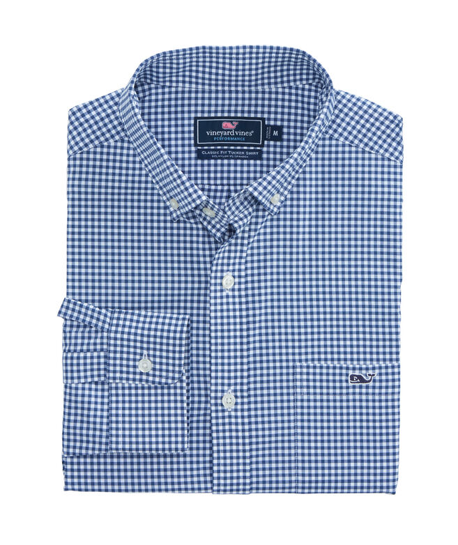 Classic Fit Grand Cay Gingham Performance Nylon Tucker Shirt