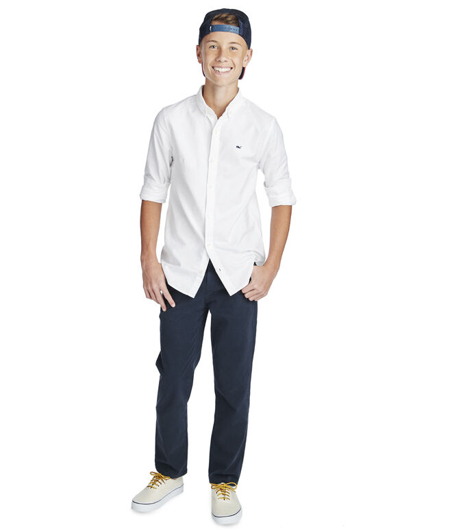 Kids Solid Oxford Whale Shirt