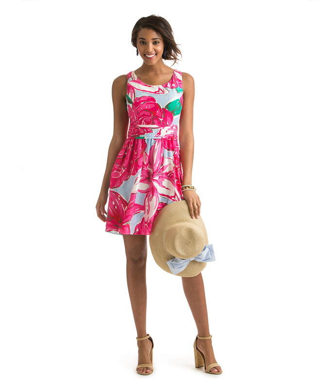 Run For The Roses Printed Derby Dress