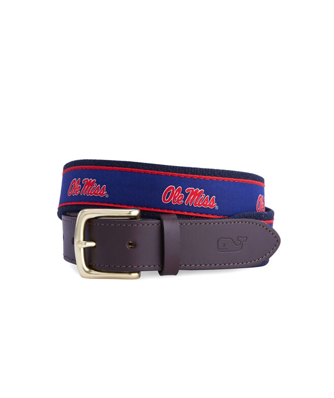 Ole Miss Canvas Club Belt