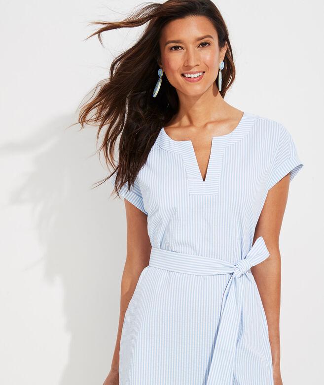 Vineyard Seersucker Harbor Tunic Dress