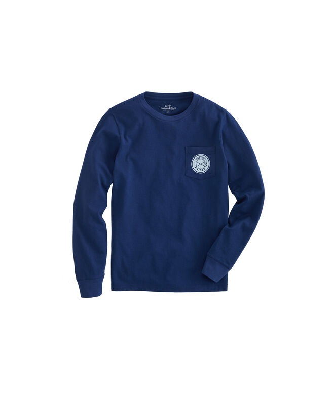 Boys Surf Crest Long-Sleeve Tee