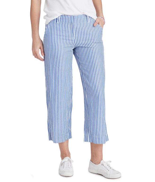 Linen Striped Catamaran Pants