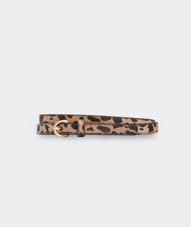 Leopard Printed Skinny Belt